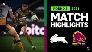 Rabbitohs v Broncos Match Highlights   Round 5, 2021   Telstra Premiership   NRL