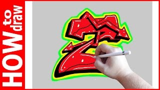 How to draw Graffiti Letters, Z № 1