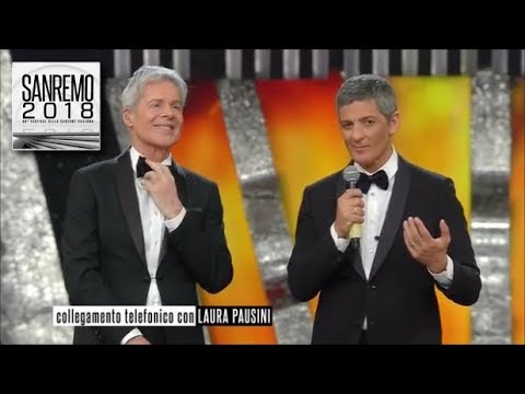 Sanremo 2018 - Laura Pausini in collegamento telefonico