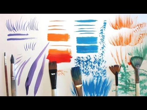 видео: КАКИЕ кисти нужны для рисования и КАК их использовать