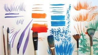 КАКИЕ кисти нужны для рисования и КАК их использовать