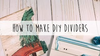 How to Make DIY Planner Dividers