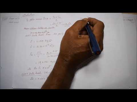 Solved Problem Related To Convective Mass Transfer - M5.20 - Heat & Mass Transfer In Tamil