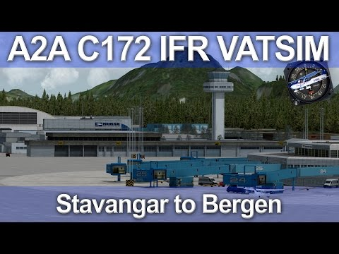 A2A C172 IFR Stavangar to Bergen