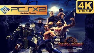 MORTAL KOMBAT: SHAOLIN MONKS (PCSX2) | EMULADOR DE PS2 NO PC | 4K + LINKS
