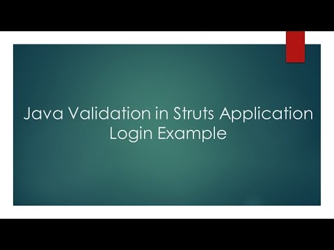 Java Validation in Struts Application - Login Example