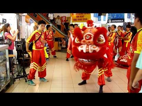 Chinese New Year Lion Dance in Singapore