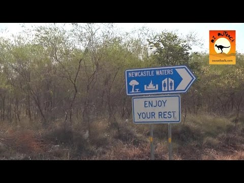 Newcastle Waters Rest area - Stuart Highway, Northern Territory outback Au