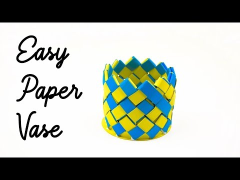 Easy Paper Vase for Beginners | How to Make Paper Vase | Origami Paper Vase Making at Home