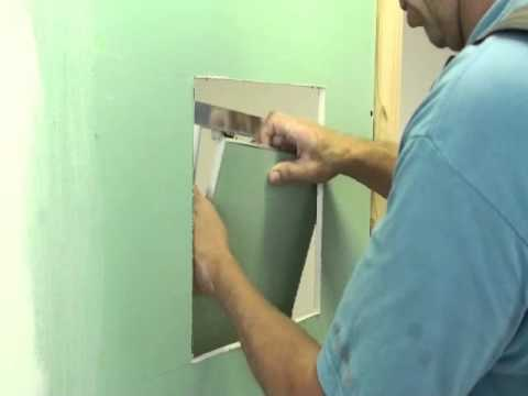 How To Install A Fixed Hinge Gypsum Faced Access Panel For