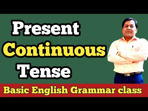 Present Continuous Tense In Hindi With Examples. ।।ENGLISH STUDY।।