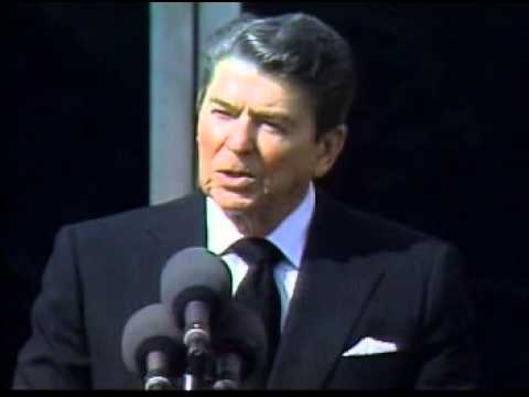 ronald reagan challenger speech Ronald reagan — 'the crew of the space shuttle challenger honored us by the  manner in which they lived their lives we will never forget them, nor the la.