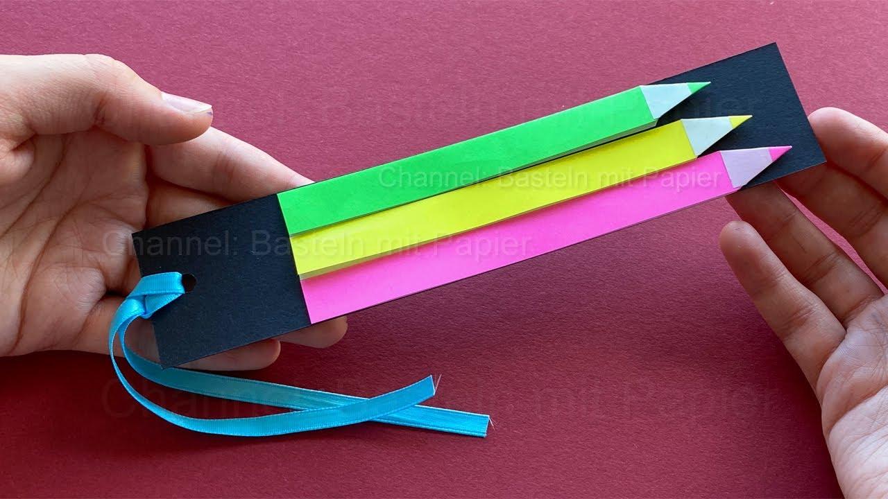 Basteln mit Papier: Einfache Lesezeichen als Geschenk zum selber machen