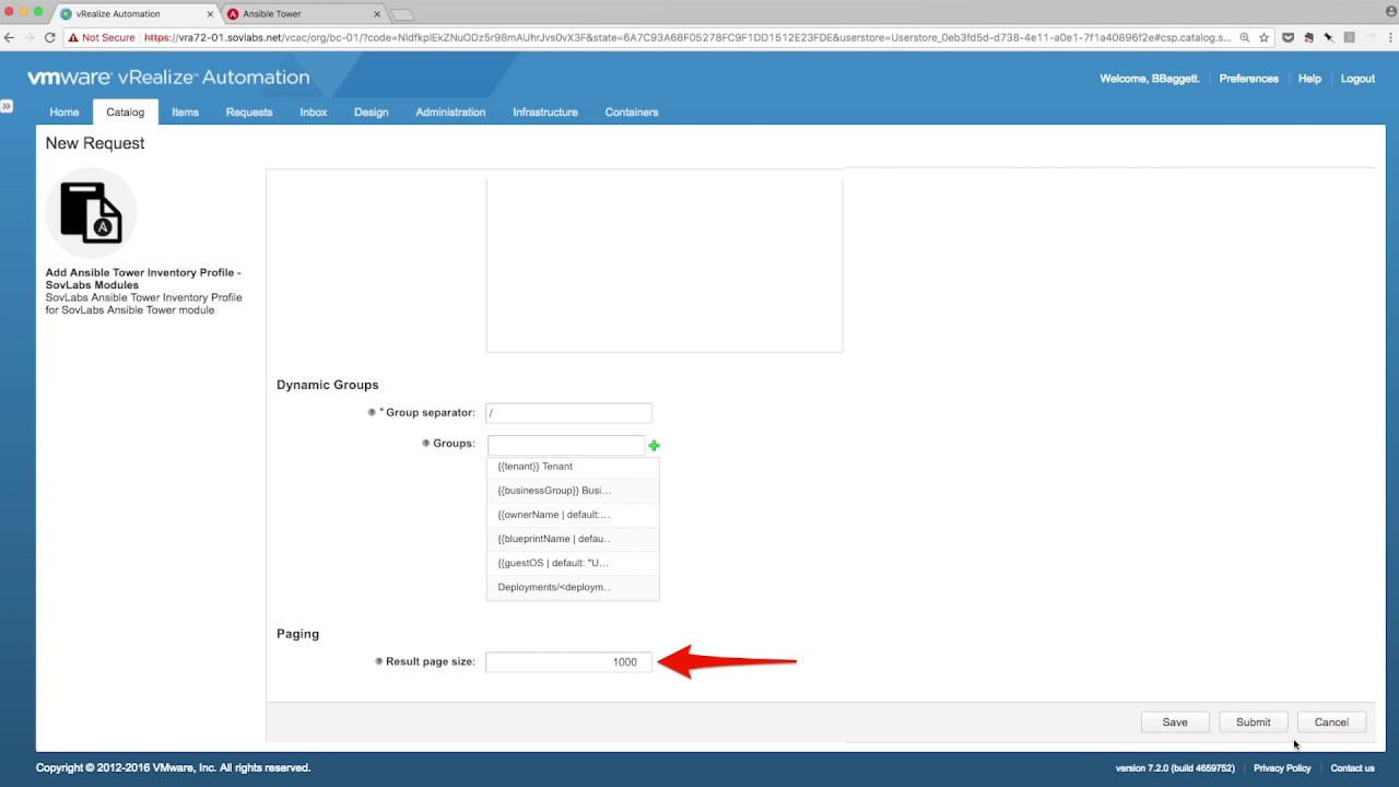 SovLabs Ansible Tower Module for VMware's vRealize Automation - Dynamic  Inventory Management