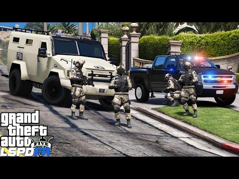 GTA 5 LSPDFR Police Mod 362 | FBI Hostage Rescue Team | Saving Hostages In Los Santos | Swat Patrol