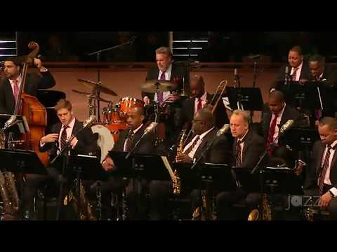 Portrait of Louis Armstrong - Jazz at Lincoln Center Orchestra - Essentially Ellington 2017