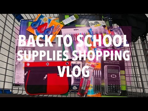 BACK TO SCHOOL SUPPLIES SHOPPING VLOG WOW | Grade 9/2017
