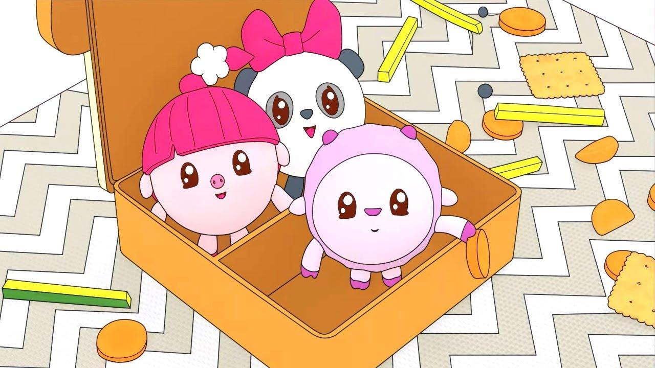 Малышарики - Коробочка | Раскраска для девочек и мальчиков
