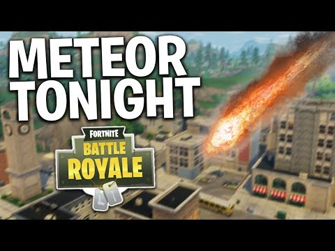 METEOR DESTROYING TILTED TOWERS TONIGHT!? Fortnite Battle Royale