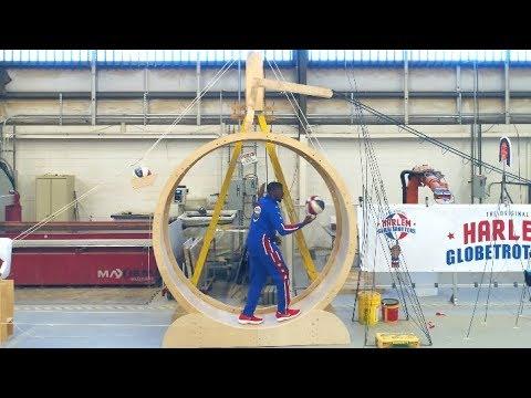 Rube Goldberg Trick Shot Machine | Harlem Globetrotters