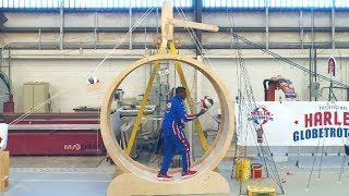 Rube Goldberg Trick Shot Machine | Harlem Globetrotters