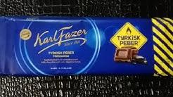 Testissä Fazerin TurkinPippuri MaitoSuklaa