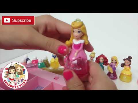 Disney Princess Little Kingdom Cosmetic Castle Vanity Makeup Set Aurora Jasmine Ariel Cinderella