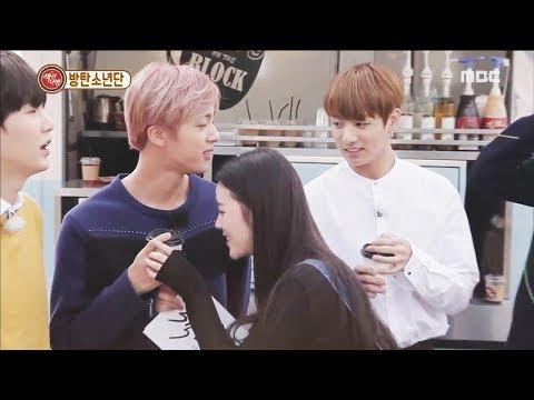 BTS & Girls cute moments (방탄소년단)