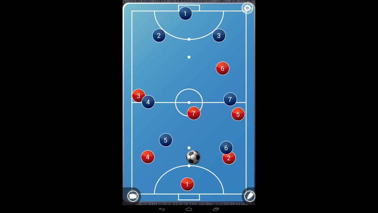 futbol 7 salida de balon 1-3-1-2 - youtube