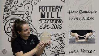 Hand Built Ceramic Wall Pocket