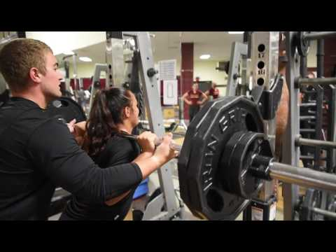 Winthrop Volleyball Spring 2017 Strength Training