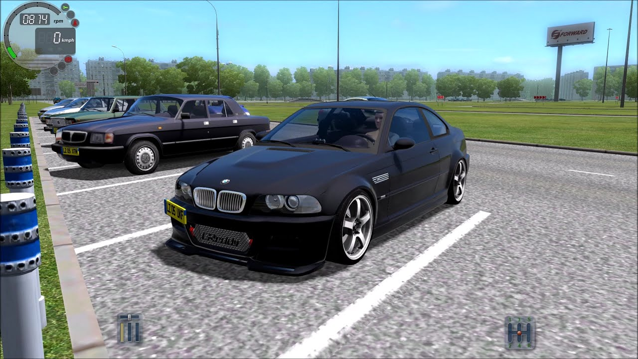 city car driving 1 4 1 bmw m3 e46 gameplay with logitech. Black Bedroom Furniture Sets. Home Design Ideas
