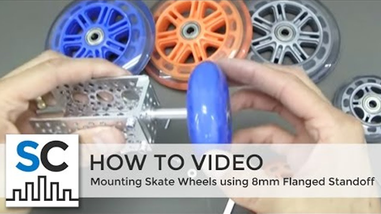Actobotics™ - Mounting Skate Wheels using 8mm Flanged Standoff (585488)