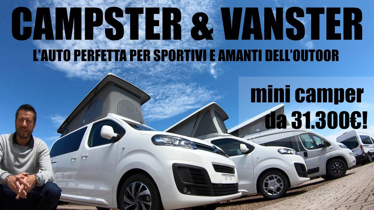 CAMPSTER & VANSTER l'auto (MINI CAMPER!) che ogni appassionato di OUTDOOR dovrebbe avere! Da 31300€!