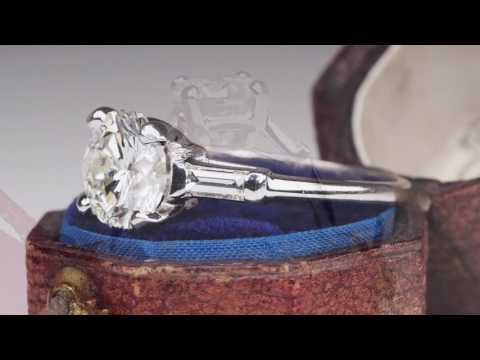 2 Carat Diamond Timeless Vintage Engagement Ring