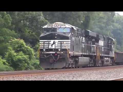 Some Norfolk Southern Trains Through Cove Pennsylvania
