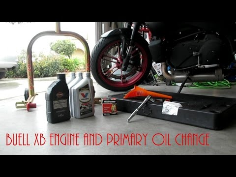 Buell XB Oil Change/Service (Engine and Primary)