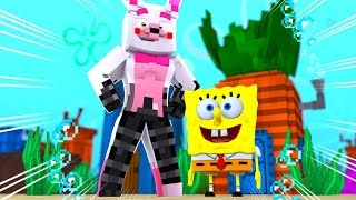 Minecraft Fnaf Daycare: Mangle Becomes Spongebob?! (Minecraft Fnaf Roleplay)