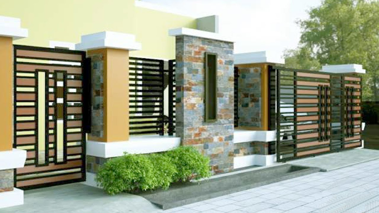 081382822273 WOODEN FENCE MINIMALIS House Looks Natural And