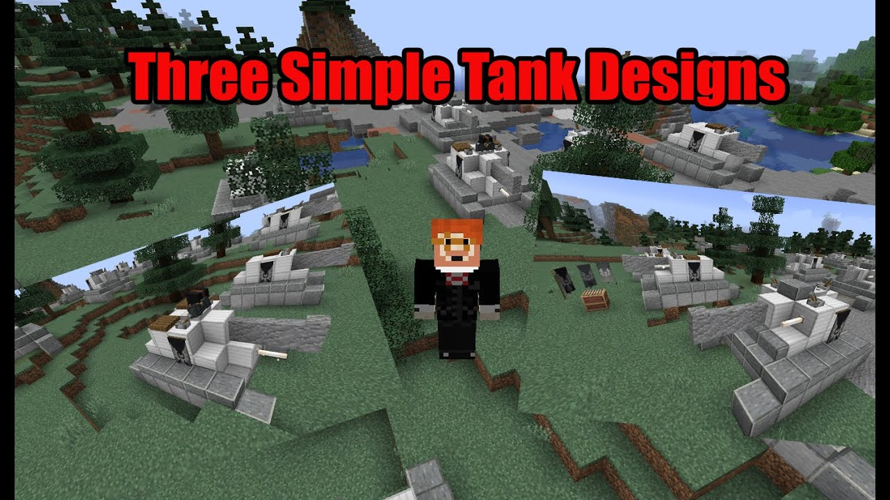 Basic and Easy Tank Designs   Minecraft Java Edition ...