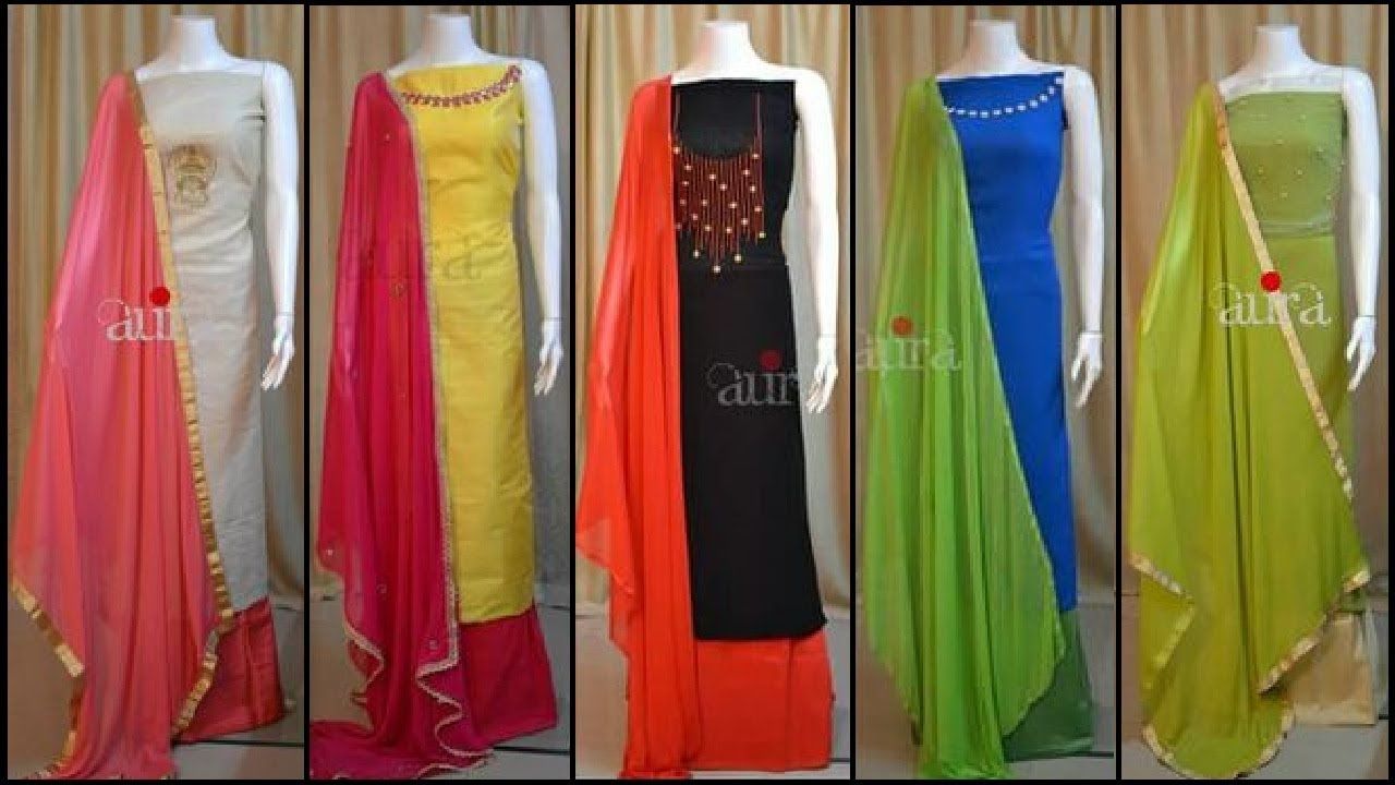 Stylish Unstitched Chudidhar Churidar Dress Material