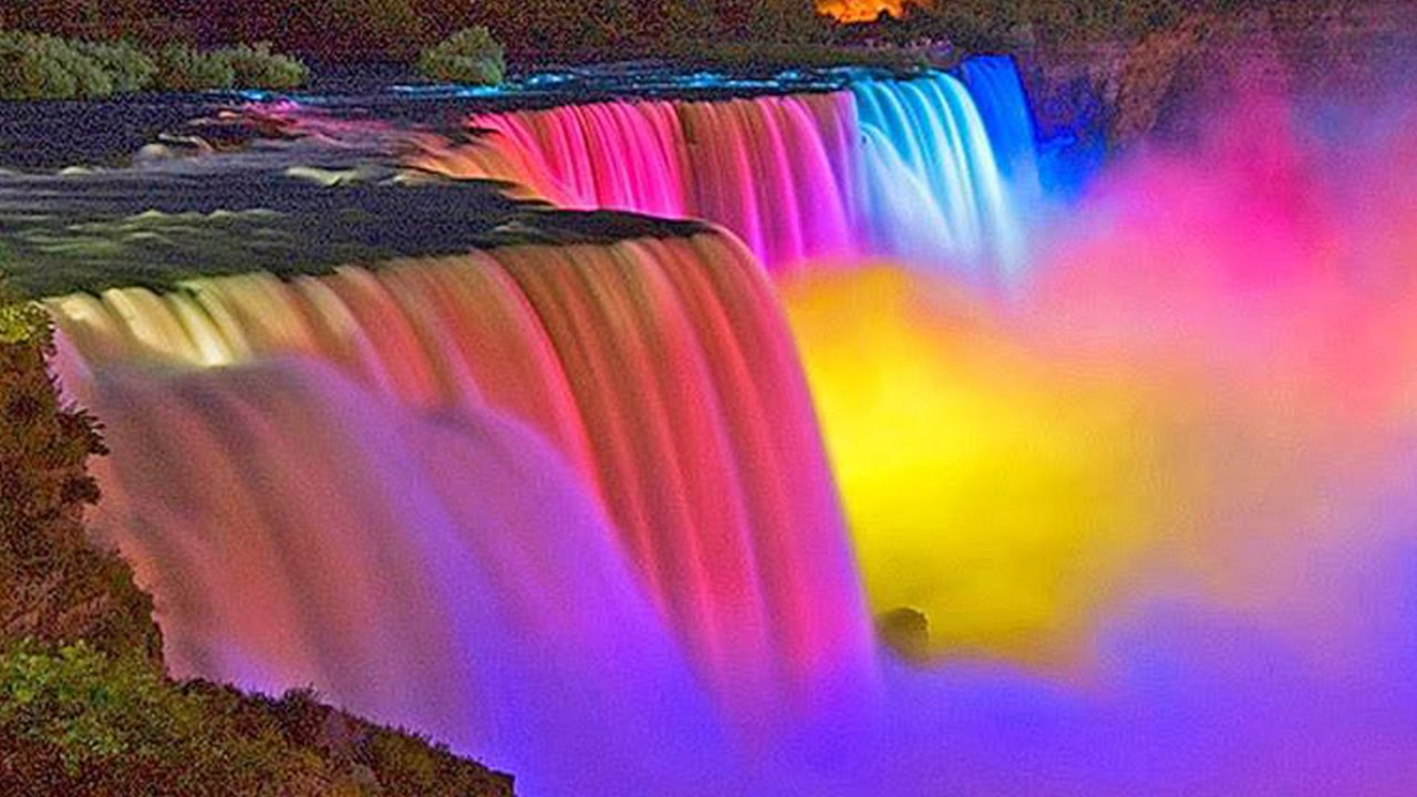 An Amazing View Of The Niagara Falls At Night Leisure