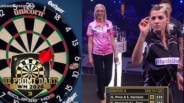 Gruppe B: Sarah Harrison & Gerwyn Price vs Fallon Sherrock & Luca Toni   Promi Darts WM   ProSieben