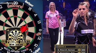 Gruppe B: Sarah Harrison & Gerwyn Price vs Fallon Sherrock & Luca Toni | Promi Darts WM | ProSieben