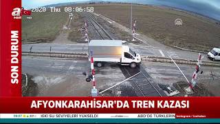 Afyonkarahisarda tren kazası