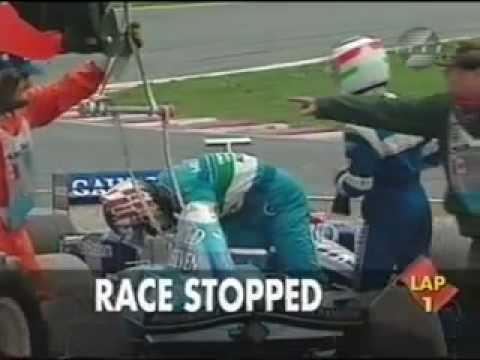 Alexander Wurz crash in Montreal 1998 / Alexander Wurz Unfall in Montreal 1998