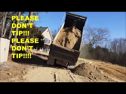 HUGE DUMP TRUCK ALMOST TIPS!!! Find out what happened & why...