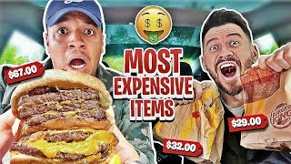 Ordering The MOST EXPENSIVE Item At Every Fast Food Restaurant (FT ITSYEBOI)
