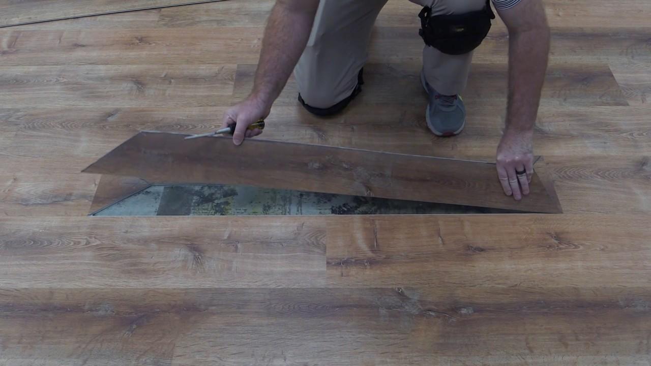 how to replace click lock vinyl flooring