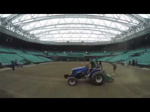 Reseeding Centre Court for The Championships 2017